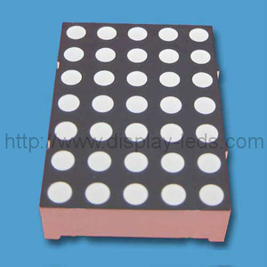 Tampilan LED 1,20 '' (30 mm) 5x7 warna dot matrix